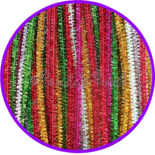 "Tinsel Craft Stems Pipe Cleaners 12"" 30cm"